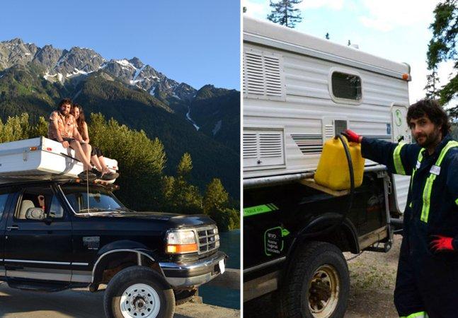 Sonho sustentável: casal viaja 45 mil km com veículo movido a óleo de cozinha
