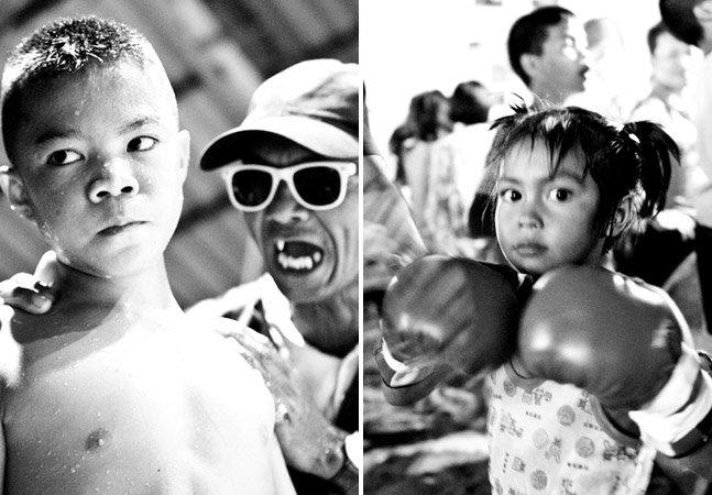 Fotógrafa retrata crianças tailandesas que lutam por fama e dinheiro