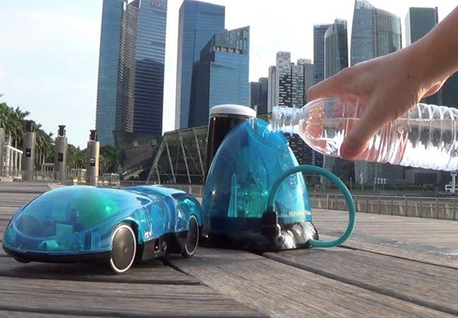 O carrinho de brinquedo que utiliza água como combustível