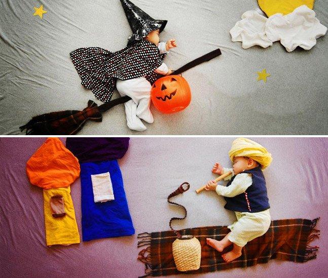 Mãe criativa coloca o filho dormindo em aventuras inimagináveis