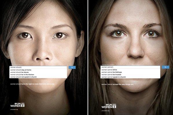 Campanha impactante mostra o que as pessoas ainda pensam das mulheres