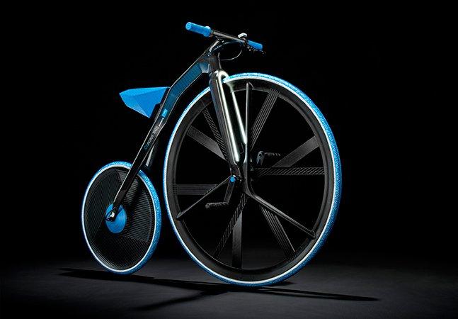 Conheça a bicicleta elétrica feita de plástico e inspirada no século XIX