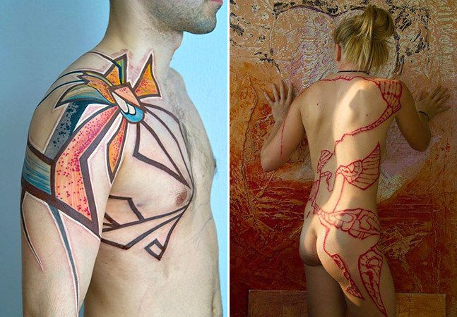 Conheça a arte na pele criativa do artista russo Grisha Maslov