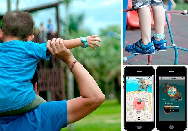 Gadget inovador ajuda pais a localizar seus filhos perdidos pelo smartphone