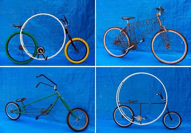 Artista brasileiro transforma bicicletas em criativas obras de arte