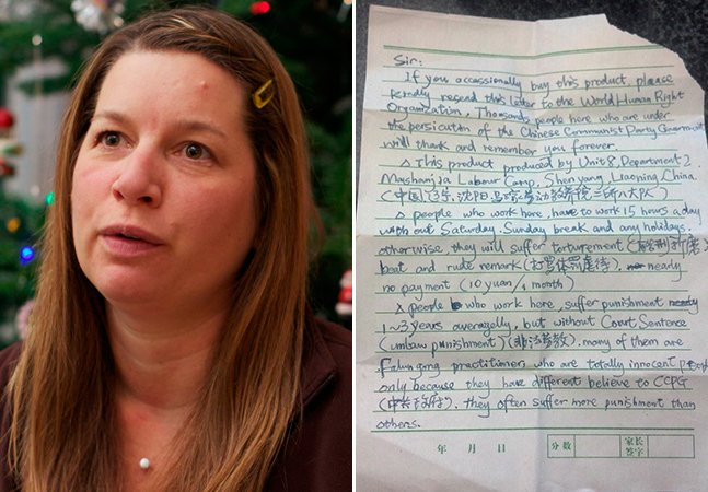 Mulher encontra pedido de socorro de escravo chinês dentro de um brinquedo