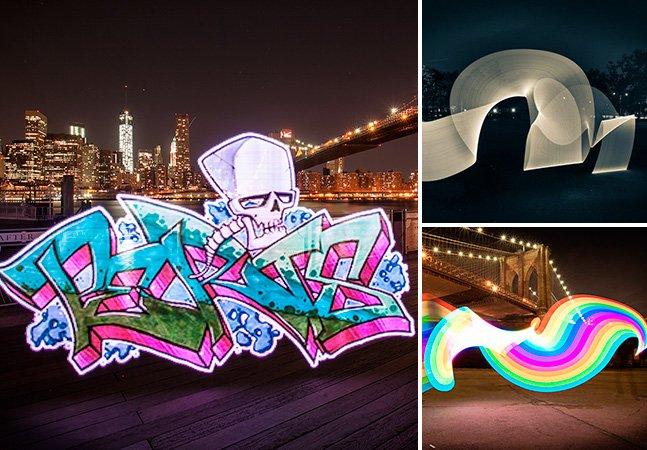 Gadget inovador permite criar 'desenhos de luz' em longa exposição