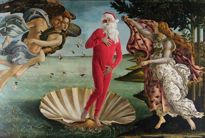 E se o Papai Noel estivesse presente em obras de arte clássicas?