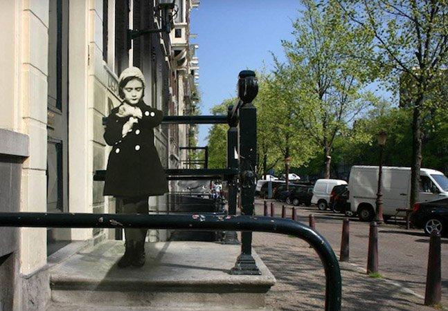 Passado e presente se unem em série de fotos da Amsterdã de Anne Frank
