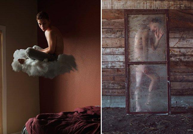 Com 21 anos, fotógrafo faz auto-retratos sensíveis e surreais