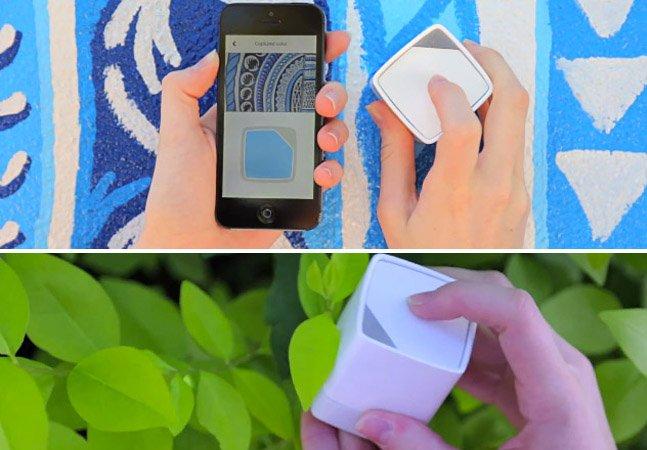 Cubo capta cor de qualquer superfície e a envia pra seu smartphone ou computador