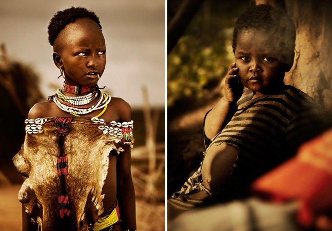 Fotógrafo registra olhares e expressões de tribos da Etiópia