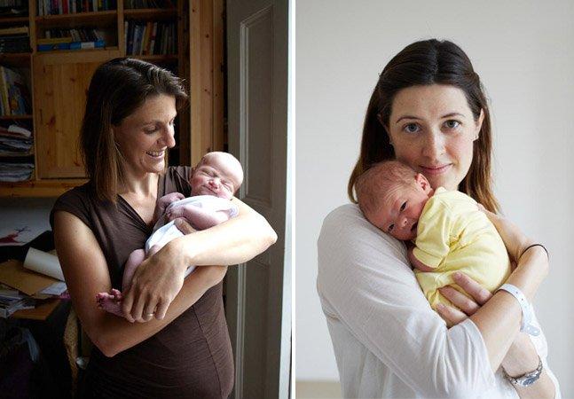 Fotógrafa retrata bebês com até 24 horas de vida ao lado de suas mães