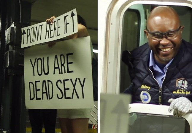 Pegadinha do bem quebra a rotina entendiante dos motoristas de metrô