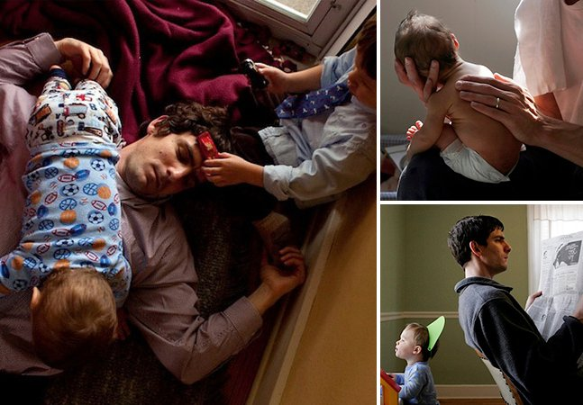 Fotógrafa captura lindos momentos autênticos entre pai e filhos