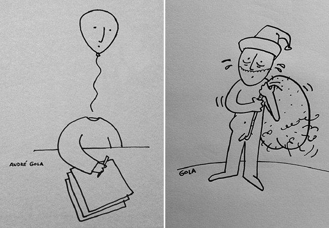 Artista brasileiro transforma cotidiano de um publicitário em cartoons divertidos