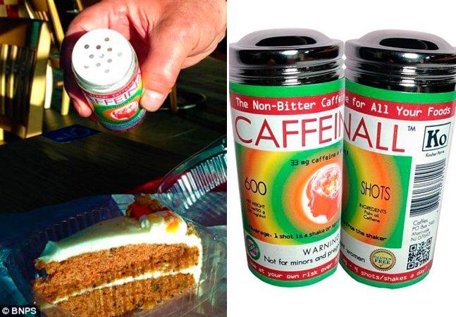 Inventores criam cafeína em pó pra você salpicar na comida como se fosse sal