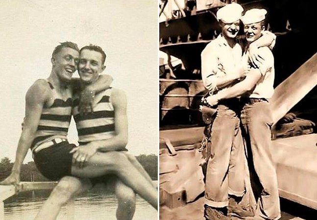 Site reúne série de fotografias antigas de casais homossexuais