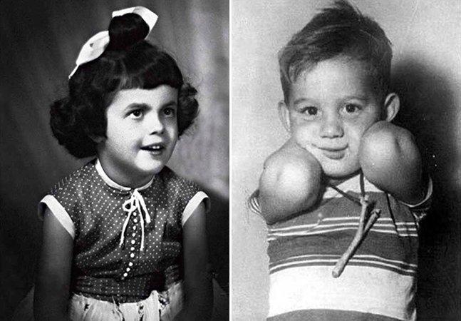 Série de fotos mostra como eram os famosos na infância