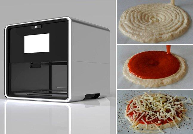 Em breve você poderá imprimir pizzas de verdade com impressoras 3D