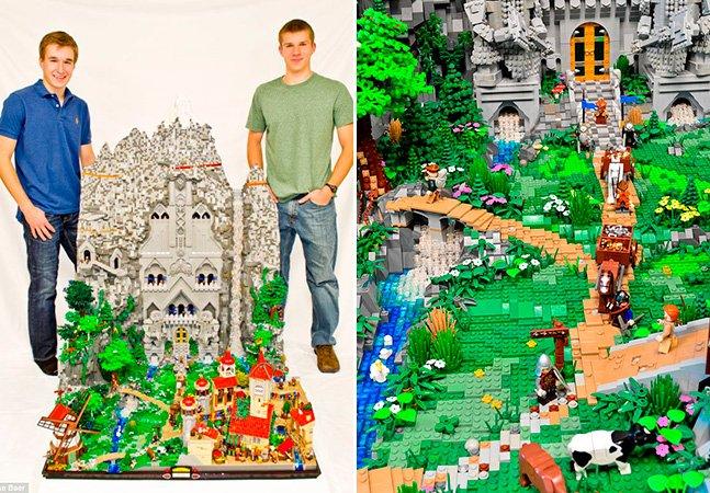 Jovens usam 80 mil peças de LEGO pra recriar mundo dos hobbits
