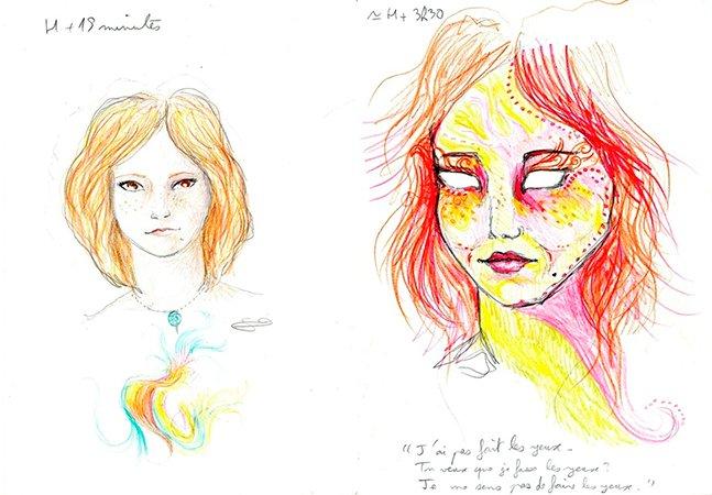 Artista cria série de auto-retratos sob o efeito de LSD
