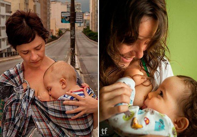 Série retrata mães amamentando seus filhos em lugares públicos