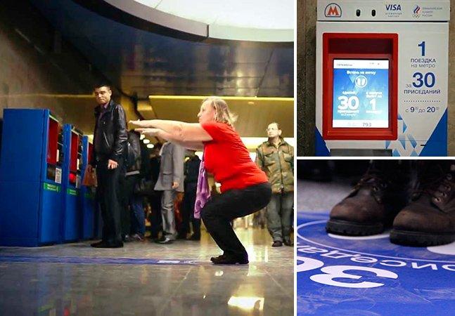 Metrô de Moscou oferece passagem grátis para quem fizer exercício físico