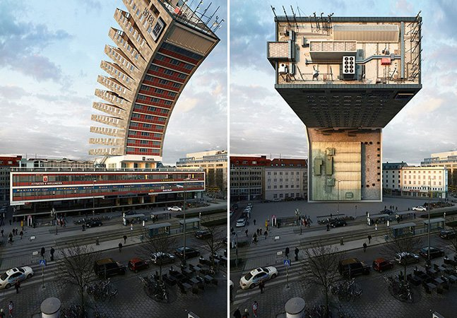 Fotógrafo usa criatividade e imagina o mesmo edifício de 88 formas diferentes