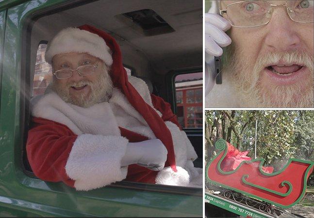 Ação divertida mostra Papai Noel e seu trenó sendo socorridos no trânsito de SP
