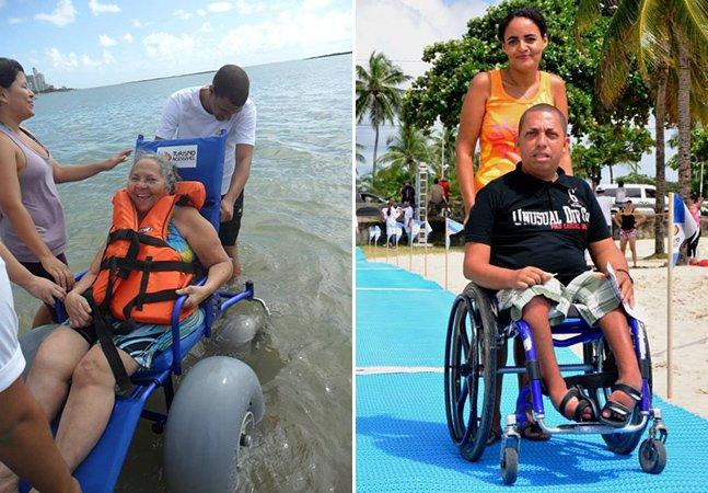 Praias no nordeste criam estrutura inovadora para receber deficientes físicos