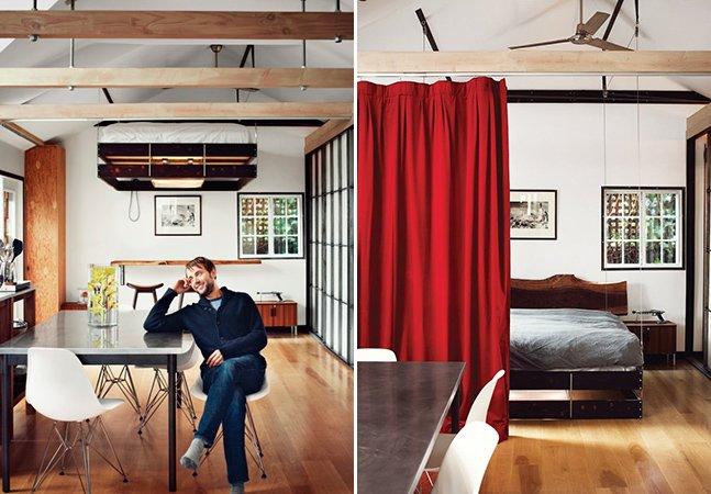 Designer cria cama retrátil que economiza espaço em casas pequenas