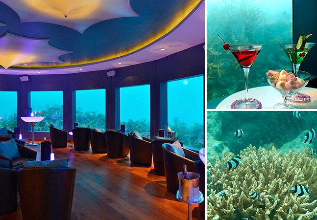 1º bar subaquático do mundo deixa visitantes dançarem debaixo d'água