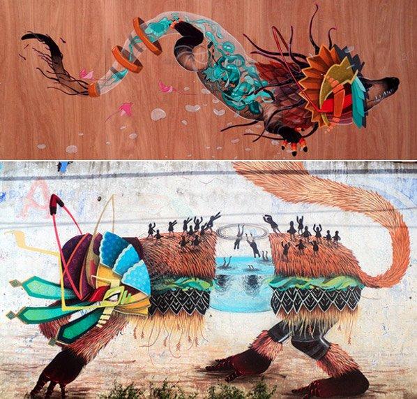 Conheça a arte de rua surrealista do mexicano Curiot