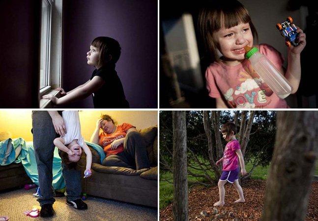 Fotógrafo registra o cotidiano de uma família com sua filha autista