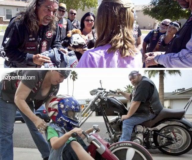 Motoqueiros viram protetores de crianças que sofreram abuso sexual