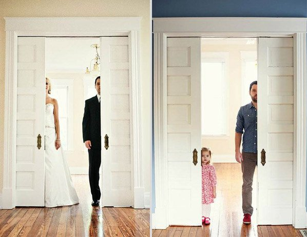 Pai e filha recriam álbum de casamento antigo para se despedir da esposa/mãe