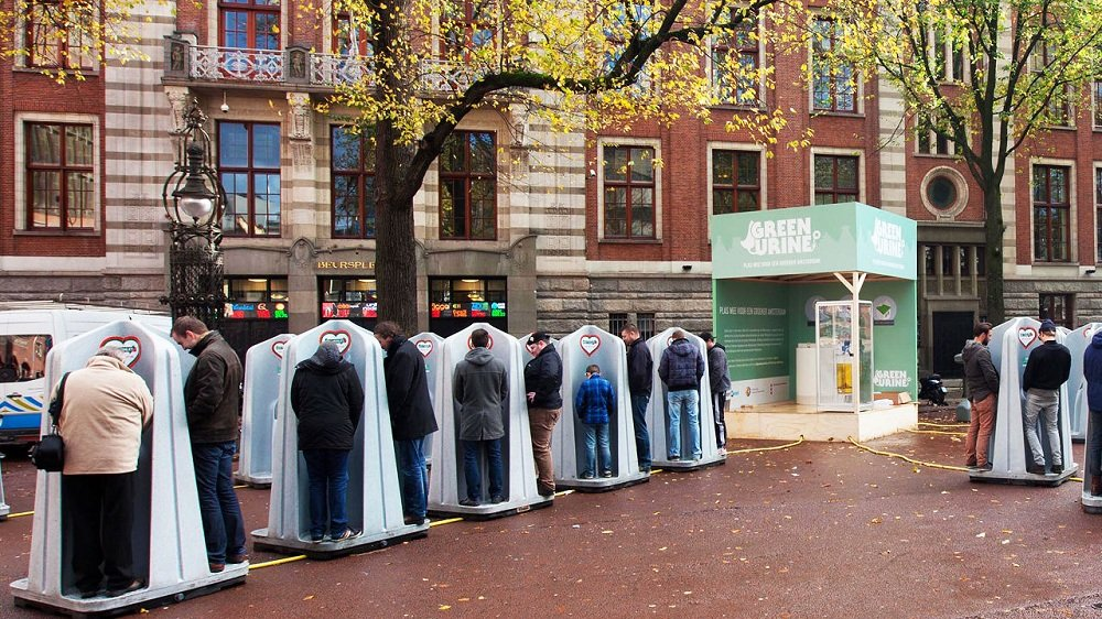 Xixi feito nos parques de Amsterdã vai se transformar em fertilizantes
