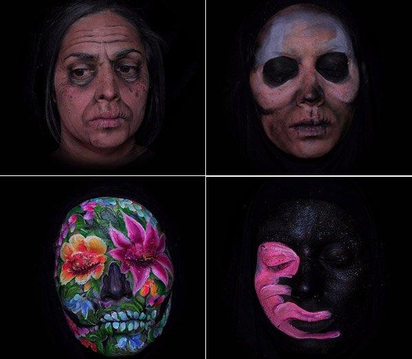 Belo time-lapse retrata envelhecimento e reencarnação através da maquiagem