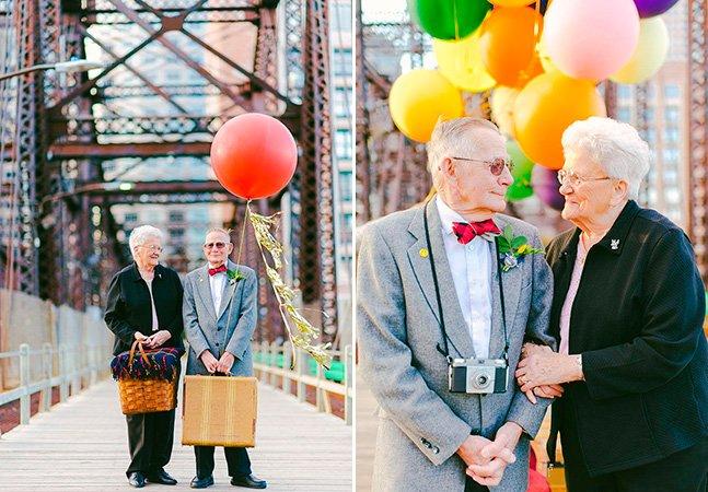 Casal celebra 61 anos de casamento com sessão fotográfica encantadora