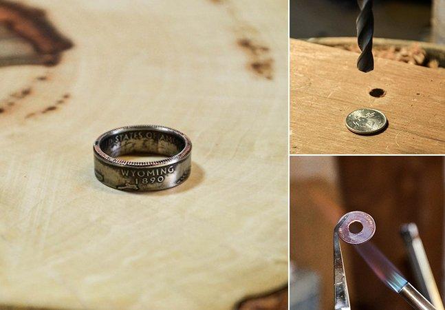 Designer cria anéis a partir de moedas mantendo o seu aspeto original