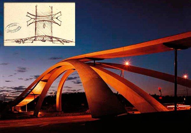 Ponte projetada por Leonardo da Vinci é construída 500 anos depois