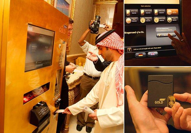 Caixa eletrônico no Dubai permite sacar ouro ao invés de notas