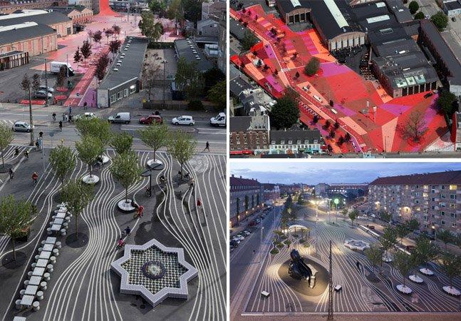 Pra homenagear a diversidade, artistas criam parque colorido e inovador na Dinamarca