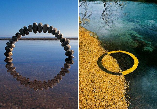 Artista representa os vários ciclos da vida com esculturas na natureza