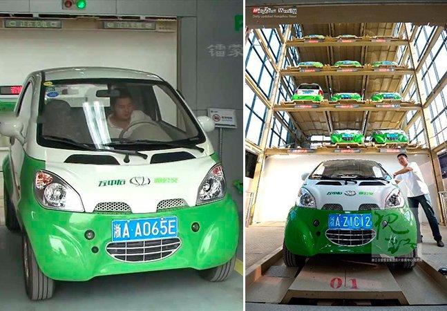China sai na frente e lança vending machine de aluguel de carros elétricos