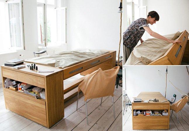 Designer cria mesa de trabalho que vira cama em poucos segundos