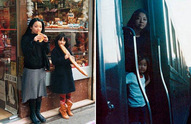 Fotógrafa cria série divertida colocando sua versão adulta em fotos da infância