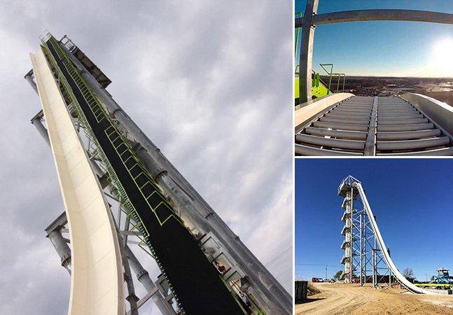 O tobogã mais alto e rápido do mundo tem altura de um prédio de 17 andares e supera 100km/h