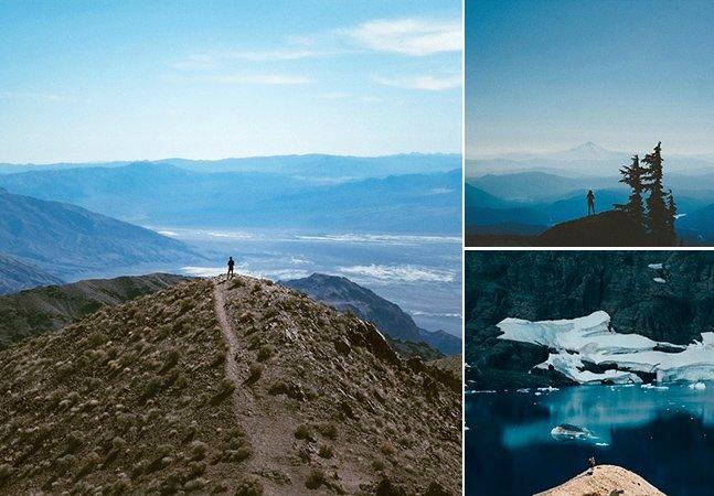 Série fotográfica coloca humanos em meio a vastas paisagens pra mostrar como somos pequenos